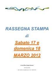 rassegna stampa di sabato 17 e domenica 18 marzo 2012 - Atap