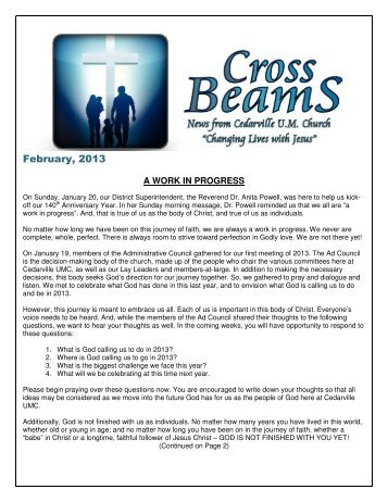 CB February 2013.pdf - Cedarville United Methodist Church
