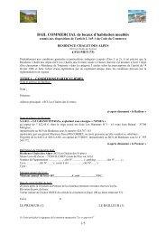 BAIL COMMERCIAL de locaux d'habitation meublés - Cn2i.fr