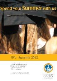 Per visualizzare le destinazioni 2013 clicca qui - UCSC International