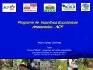 Programa de Incentivos Económicos Ambientales - ACP