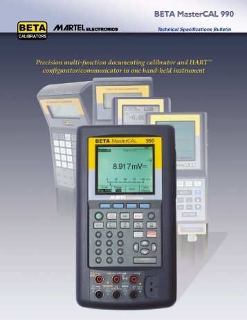 1 Technical Specifications Bulletin - Chevrier Instruments inc.