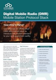 Digital Mobile Radio (DMR) Mobile Station Protocol Stack - Etherstack