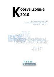 Kodeveiledning 2010 - KITHs