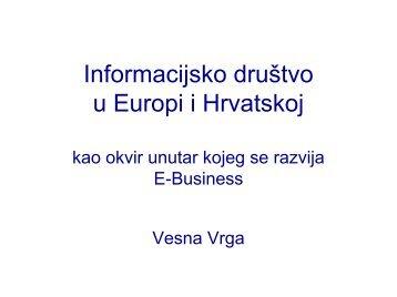 Informacijsko društvo u Europi i Hrvatskoj