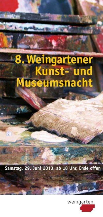 Programm Kunstnacht 2013 - Weingarten.IN