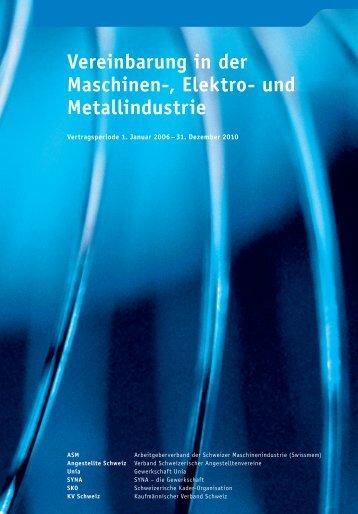 Vereinbarung in der Maschinen-, Elektro- und Metallindustrie