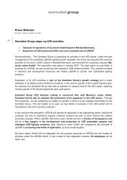 Press Release (pdf, 26.35KB) - Zumtobel Group