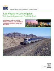 Las Vegas to Los Angeles - Regional Transportation Commission of ...