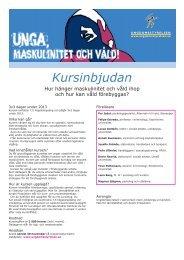 Inbjudan och program - Ungdomsstyrelsen
