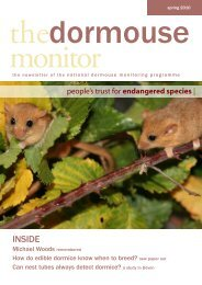 The Dormouse Monitor Spring 2010 - People's Trust for Endangered ...