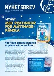 Nyhetsbrev mars 2012 - Nestlé Nutrition