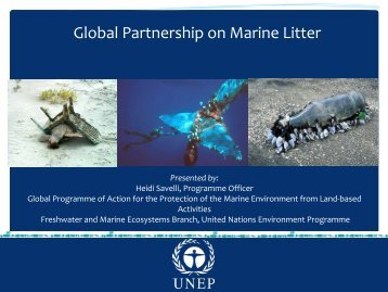 Global Partnership on Marine Litter
