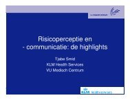 Risicoperceptie en - communicatie: de highlights