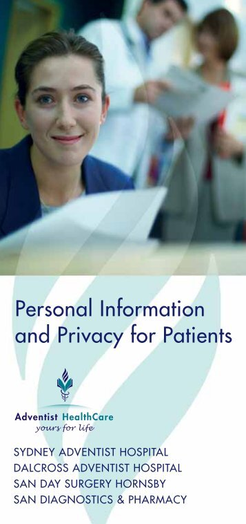 Personal Information and Privacy for Patients - Sydney Adventist ...