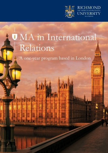 MA in International Relations - Richmond - The American ...