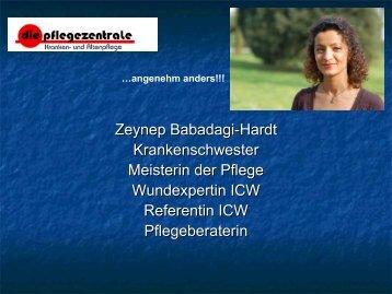 Zeynep Babadagi-Hardt Krankenschwester Meisterin der Pflege ...