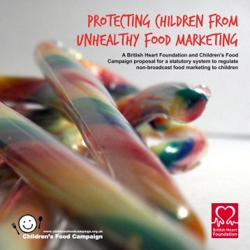 Protecting children from unhealthy food marketing - Children's Food ...