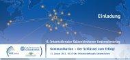 6. Internationaler Gelsenkirchener Unternehmertag Kommunikation