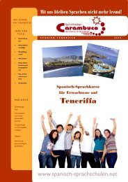 Teneriffa - Sprachreisen Carambuco