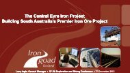 The Central Eyre Iron Project Building South ... - SA Explorers