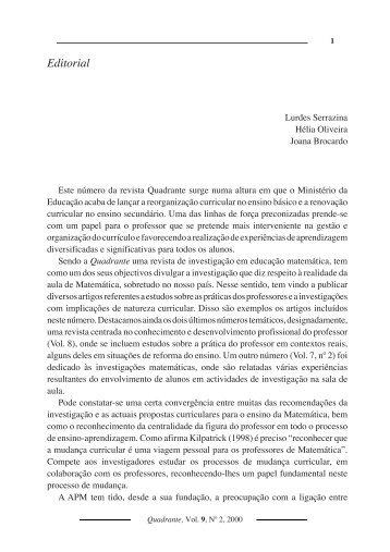 0 Editorial - Associação de Professores de Matemática