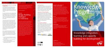 Knowledge integration, learning and capacity building for ... - Hivos