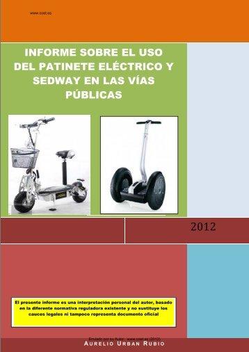 informe sobre el uso del patinete eléctrico en las vías públicas - Coet