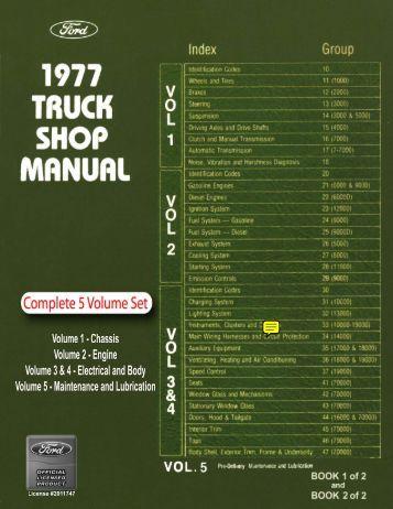 DEMO - 1977 Ford Truck Shop Manual - ForelPublishing.com