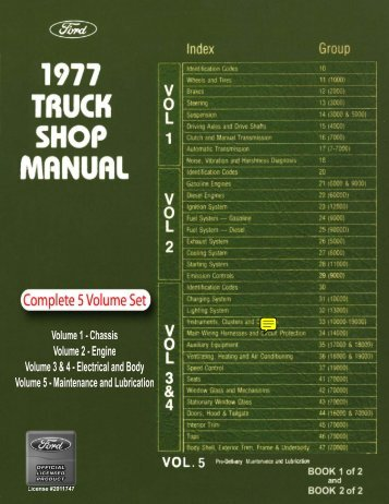 DEMO - 1977 Ford Truck Shop Manual - ForelPublishing.com