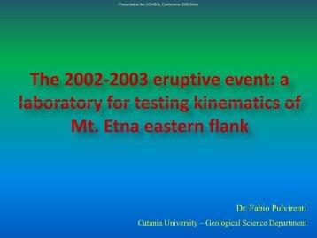 Microsoft PowerPoint - Pulvirenti-The 2002-2003 ... - COMSOL.com