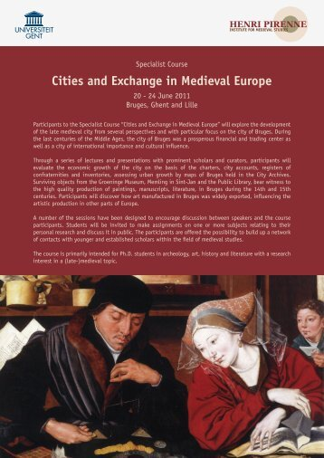 Cities and Exchange in Medieval Europe - MESHS