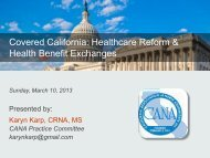Covered California: Healthcare Reform & Health Benefit Exchanges