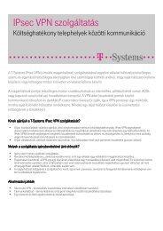 Részletes, letölthető termékleírás ( pdf, 239 kB ) - T-Systems