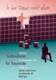 In der Trauer nicht allein - Martin Luther Gemeinde Böblingen