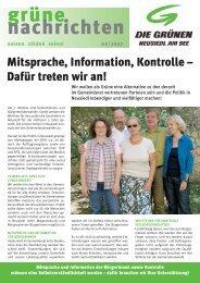 grüne nachrichten - Die Grünen – Burgenland