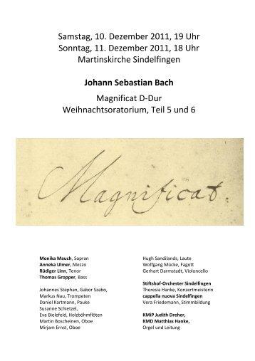 Johann Sebastian Bach - Evangelische Martinskirche Sindelfingen