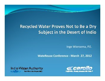 Recycled Water Proves Not to Be a Dry Subject in the Desert of Indio ...