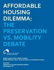 Affordable Housing Dilemma - National Low Income Housing Coalition