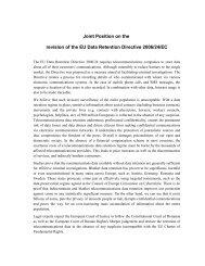 Joint Position on the revision of the EU Data Retention Directive ...