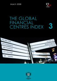 The global financial centres index (GFCI) 3 - Z/Yen