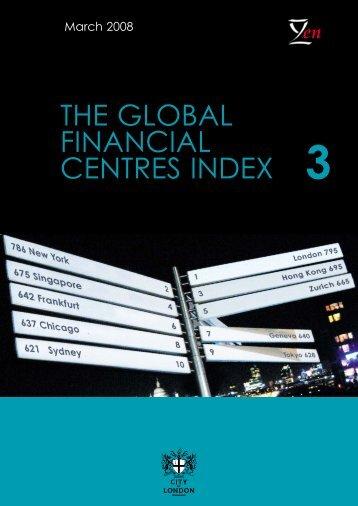 The global financial centres index (GFCI) 3 - Z/Yen