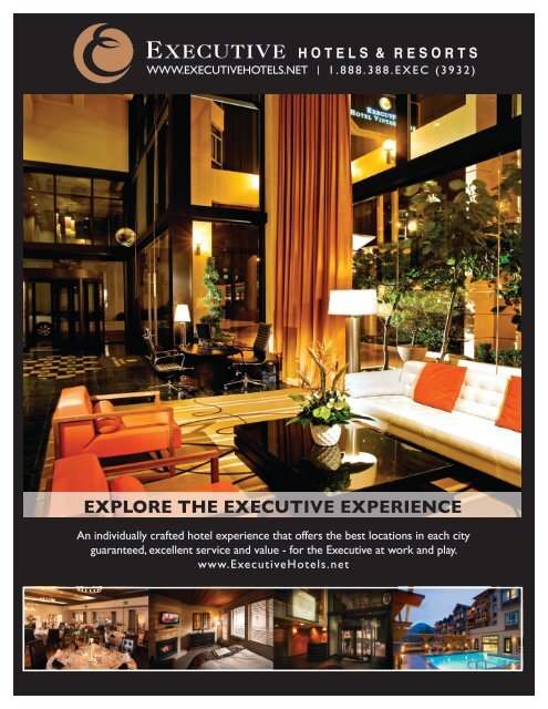 Brand Rack Card - Executive Hotels and Resorts