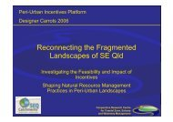 Reconnecting the Fragmented Landscapes of SE Qld