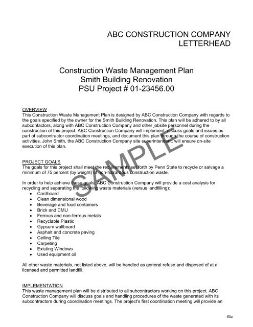 food waste management business plan