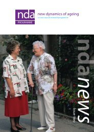 Older People's Reference Group - New Dynamics of Ageing ...