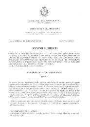 AVVISO PUBBLICO - Comune di Cammarata