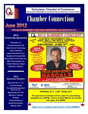June 2012 Newsletter - The Quinnipiac Chamber of Commerce