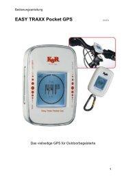 EASY TRAXX Pocket GPS V2.00 D - Kasper & Richter