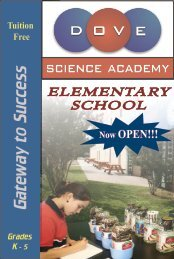 Gateway to Success - Dove Science Academy Elementary